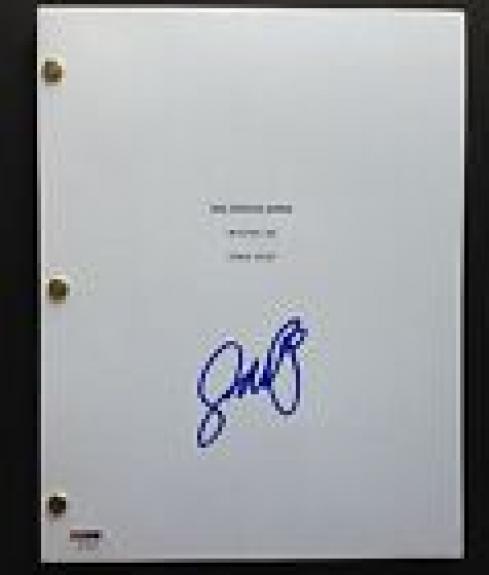 Jay Baruchel Signed Man Seeking Woman Pilot Script Full 38 Pages Psa Dna Coa