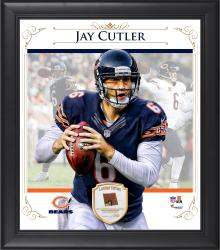 "Jay Cutler Chicago Bears Framed 15"" x 17"" Composite Collage with Piece of Game-Used Football"