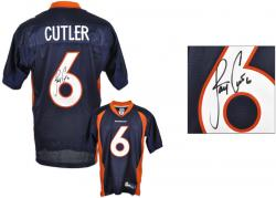 Jay Cutler Signed Jersey - Blue Reebok Mounted Memories