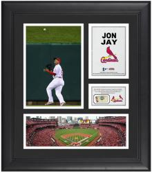 "Jon Jay St. Louis Cardinals Framed 15"" x 17"" Collage with Game-Used Baseball - Mounted Memories"
