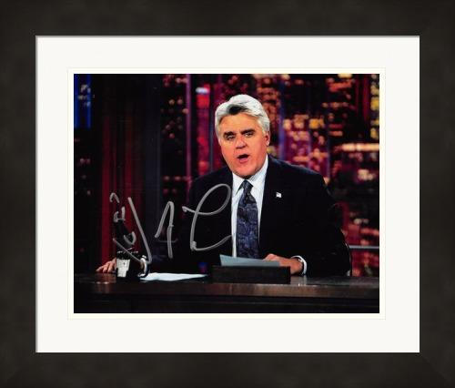 Jay Leno autographed 8x10 Photo (The Tonight Show) #SC1 Matted & Framed
