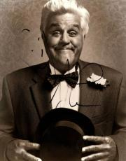 Jay Leno Autographed Signed 11x14 B/W Poster Photo UACC RD AFTAL COA