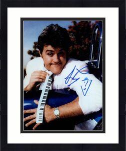 Jay Leno Autographed Signed 8x10 Piano Tie Photo AFTAL