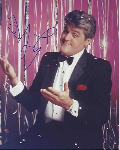 """JAY LENO - COMEDIAN/TV HOST Was Host of """"THE TONIGHT SHOW with JAY LENO"""" from 1992 -2009 - Signed 8x10 Color Photo"""