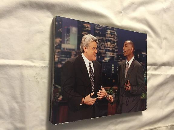 Jay Leno Dave Chappelle Tonight Show Signed Autographed 8x10 Photo W/coa