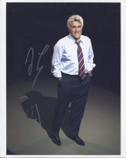 JAY LENO HAND SIGNED 8x10 COLOR PHOTO+COA     AWESOME POSE +ORIGINAL FACE SKETCH