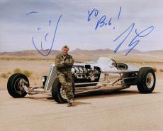 JAY LENO HAND SIGNED 8x10 COLOR PHOTO+COA      BEST POSE EVER+CAR     TO BOB