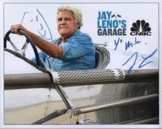 JAY LENO HAND SIGNED 8x10 COLOR PHOTO+COA        JAY LENO'S GARAGE      TO MIKE