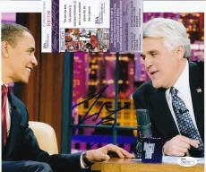 JAY LENO Hand Signed Auto TONIGHT SHOW TV 8x10 photo + JSA COA R91736 Comedian