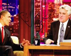 JAY LENO signed 8x10 photo TONIGHT SHOW OBAMA with COA