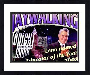 JAY LENO signed 8x10 photo TONIGHT SHOW with COA