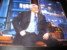 JAY LENO SIGNED AUTOGRAPH 8x10 PHOTO THE TONIGHT SHOW PROMO LATE NIGHT COA NY E