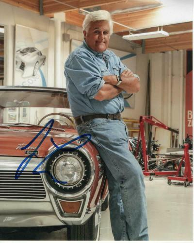 Jay Leno Signed Autographed 8x10 Photo - Tonight Show Host, Garage, Car Legend 1