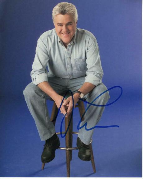 Jay Leno Signed Autographed 8x10 Photo - Tonight Show Host, Garage, Car Legend 2