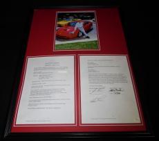 Jay Leno Signed Framed 18x24 Contract & Photo Display JSA Tonight Show
