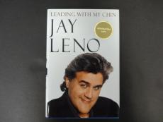 Jay Leno Signed Leading With My Chin Book Autograph Auto PSA/DNA AB70251