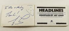 """Jay Leno Signed Paperback Book """"Headlines"""" Autograph ^ The Tonight Show"""