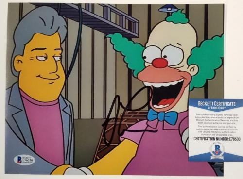 JAY LENO Signed Simpsons 8x10 Photo #2 Tonight Show Autograph ~ Beckett BAS COA