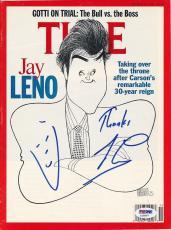Jay Leno Signed TIME Magazine Cover Autograph Auto PSA/DNA Z10507