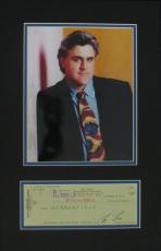 Jay Leno Signed Tonight Show Autographed Check Matted w/Photo PSA/DNA #H37688