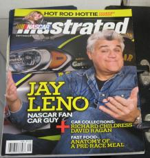 Jay Leno The Tonight Show Host Signed Nascar Illustrated Magazine Autographed