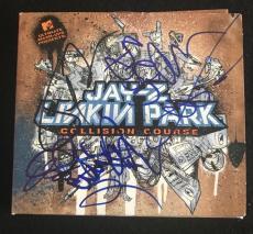Jay Z & Linkin Park Signed Cd Cover 6 Autographs Bennington Shinoda Rare Jsa Loa