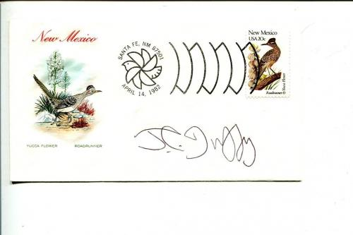 J.C. Duffy Fusco Brothers Cartoonist Artist Signed Autograph FDC Sketch