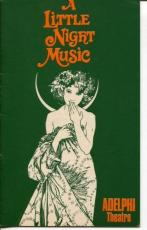 Jean Simmons Stephen Sondheim A Little Night Music British Dec 1975 Playbill