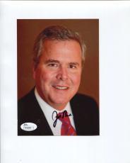 JEB BUSH HAND SIGNED 5x7 COLOR PHOTO        EX-FLORIDA GOVERNOR       JSA