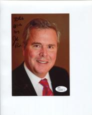 JEB BUSH HAND SIGNED 5x7 COLOR PHOTO    PRESIDENTIAL CANDIDATE    TO BOB    JSA