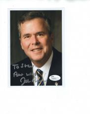 JEB BUSH HAND SIGNED 5x7 COLOR PHOTO      EX-FLORIDA GOVERNOR    TO STEVE    JSA