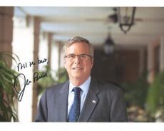 JEB BUSH HAND SIGNED 8x10 COLOR PHOTO+COA      FORMER FLORIDA GOVERNOR