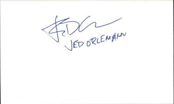 """JED ORLEMANN AS THE WORLD TURNS Signed 3""""x5"""" Index Card"""