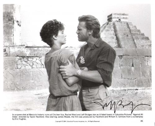 "JEFF BRIDGES ""AGAINST ALL ODDS"" Signed 10x8 B/W Photo"