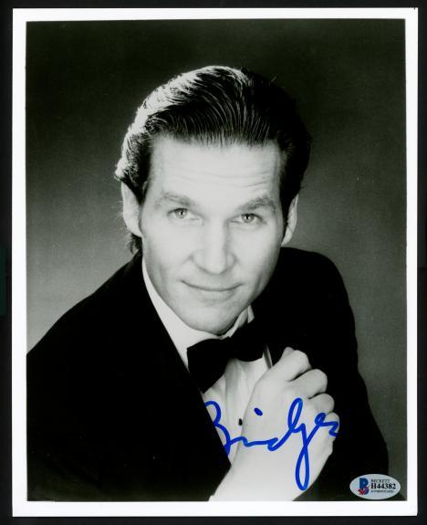 Jeff Bridges Autographed 8x10 Photo Actor Beckett BAS #H44382