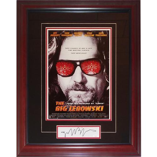 Jeff Bridges Autographed The Big Lebowski (The Dude) Deluxe Framed 11″x17″ Movie Poster Piece – JSA