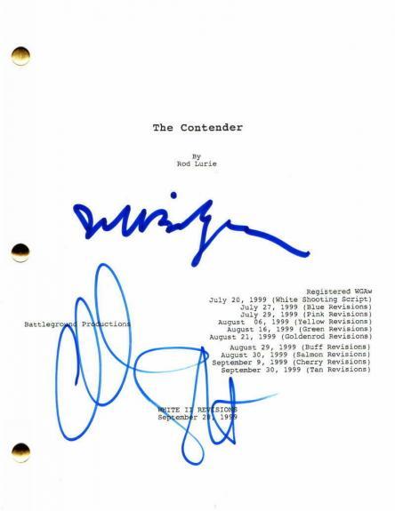 Jeff Bridges & Christian Slater Signed Autograph - The Contender Movie Script