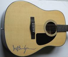JEFF BRIDGES Crazy Heart Signed FENDER ACOUSTIC GUITAR w/ PSA DNA Oscar Award