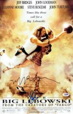 Jeff Bridges & John Goodman Signed The Big Lebowski 11x17 Movie Poster PSA/DNA