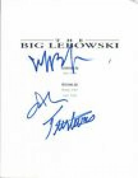 Jeff Bridges & John Turturro Signed Autograph THE BIG LEBOWSKI Movie Script COA