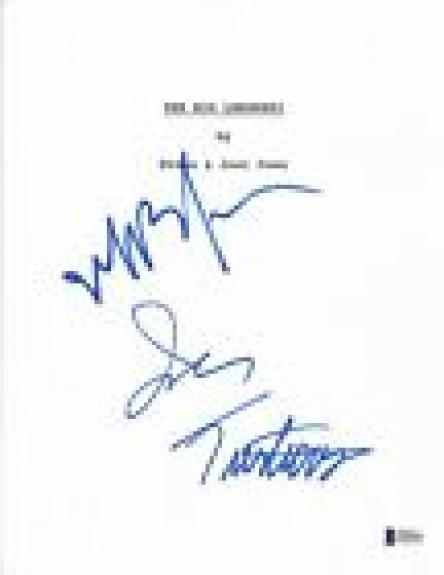 Jeff Bridges & John Turturro Signed Autograph THE BIG LEBOWSKI Script BAS COA