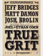 TRUE GRIT CAST SIGNED 11x14 Jeff Bridges, Matt Damon, & Hailee Steinfeld PSA/DNA