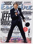 Jeff Bridges Signed 2011 Esquire Magazine Autograph PSA/DNA #S80900
