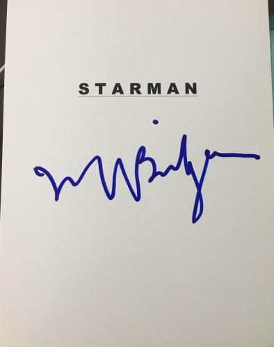 "Jeff Bridges Signed Autograph ""starman"" Full Movie Script Coa"