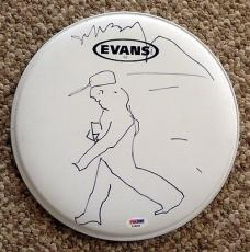 Jeff Bridges Signed Autographed Full Drumhead + Sketch Dude Big Lebowski Psa/dna