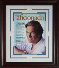 Jeff Bridges Signed Cigar Aficionado Framed Display