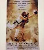 JEFF BRIDGES Signed THE BIG LEBOWSKI 11x17 Movie Poster Photo w/ BAS Beckett COA