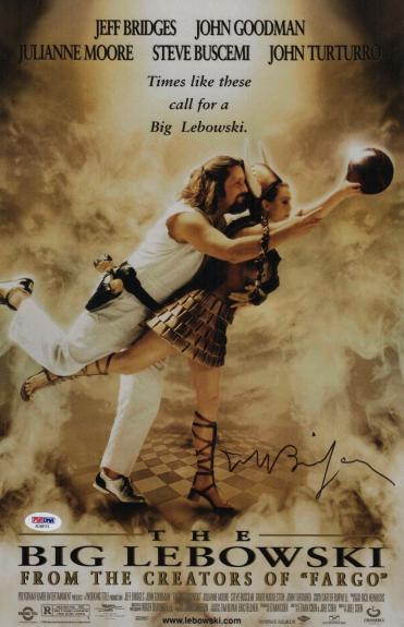 Jeff Bridges Signed The Big Lebowski 11x17 Movie Poster Psa Coa Ad48113