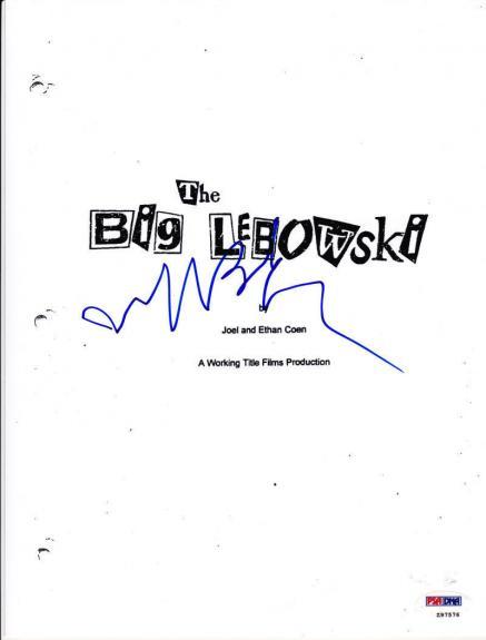 Jeff Bridges Signed The Big Lebowski Complete 120 Page Script The Dude Auto Psa