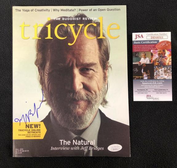 Jeff Bridges Signed Tricycle Magazine Jsa Authenticated Big Lebowski Iron Man